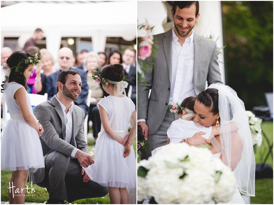 Bride, Groom and Children - Harth Photography