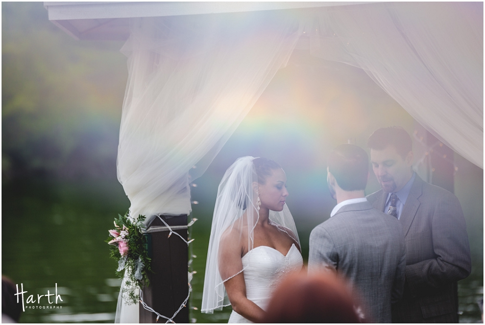 Bride at the ceremony - Harth Photography