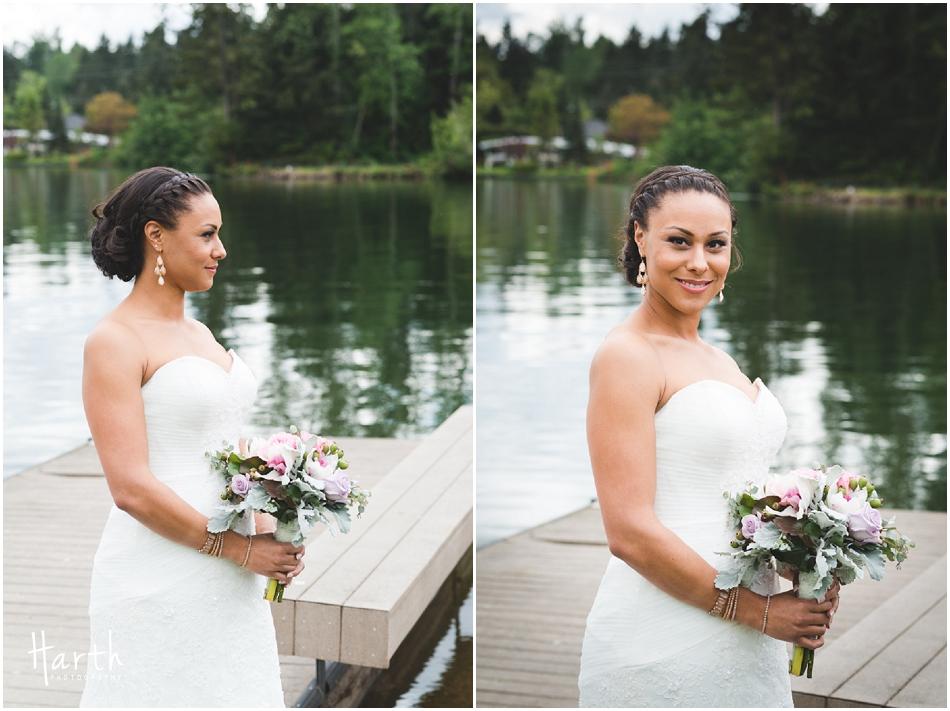 Bride portraits at the lake - Harth Photography