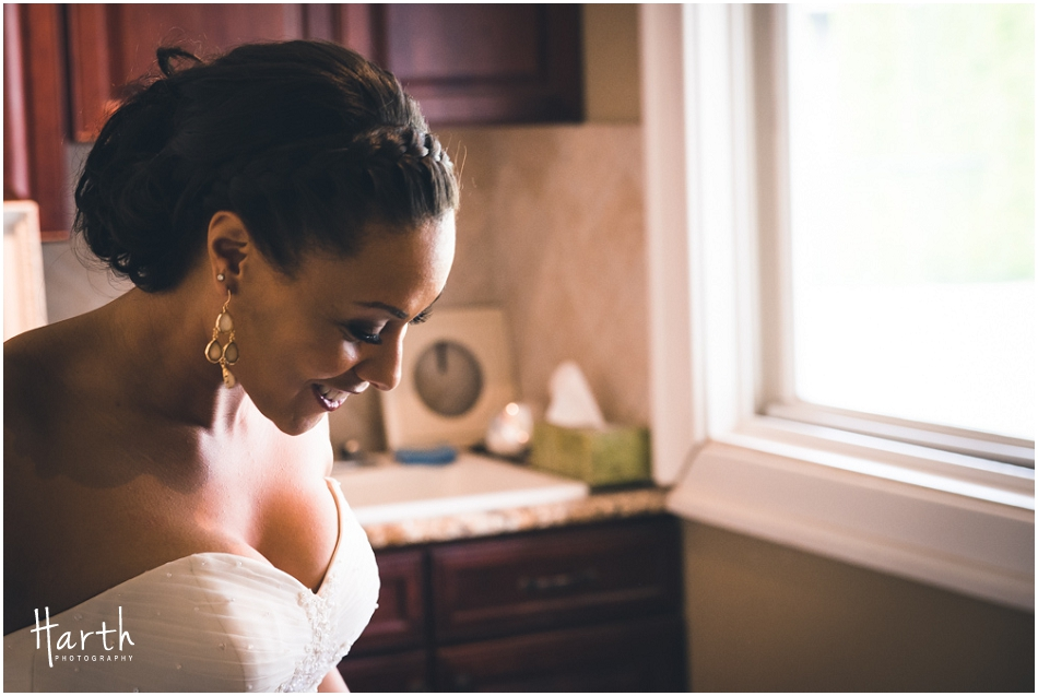 Bride Smiling - Harth Photography