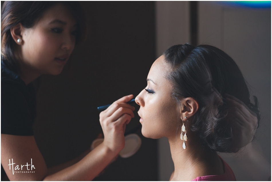 Bride and Make-up Artist - Harth Photography