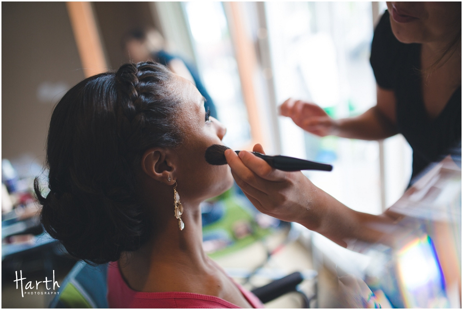 Bride and Makeup Artist - Harth Photography