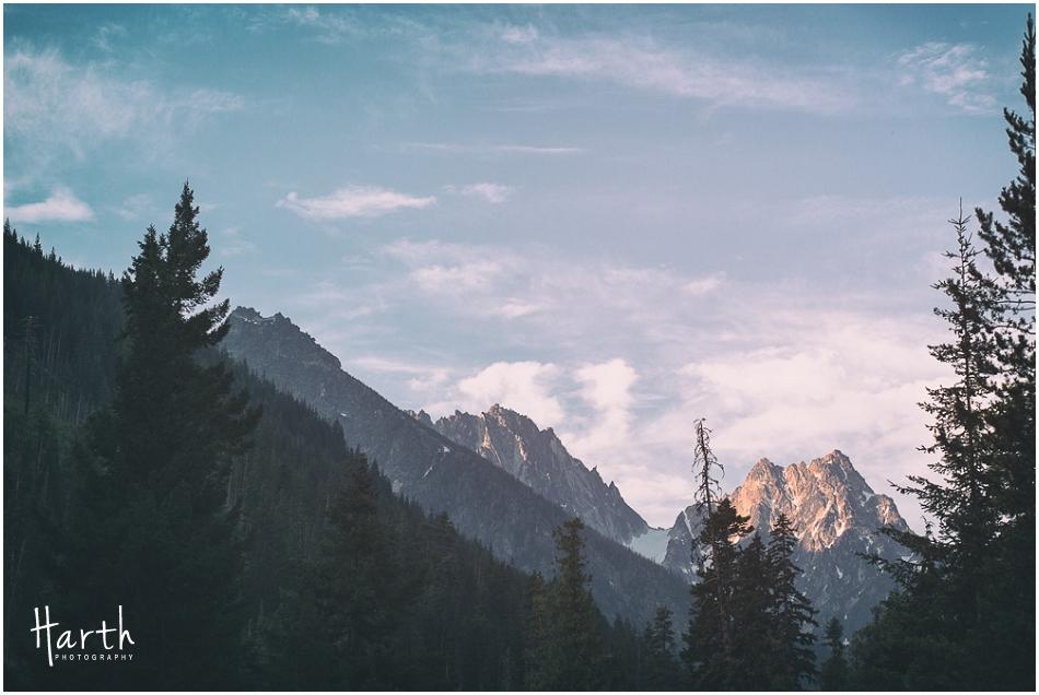 Mountain in the sunlight