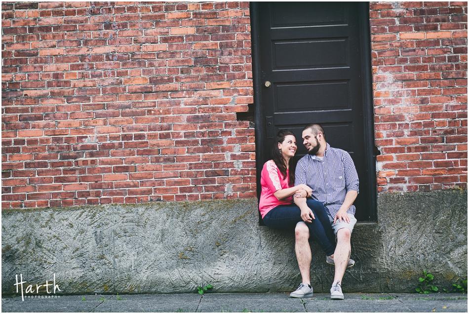 Snohomish Bricks Engagement | Harth Photography