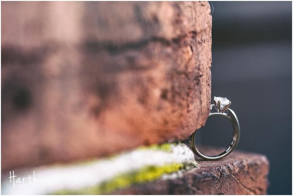 Bricks Engagement Ring | Harth Photography