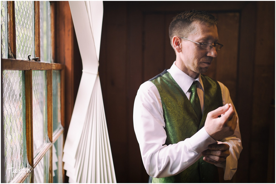 Groom in Natural Window Light - Floral Hall