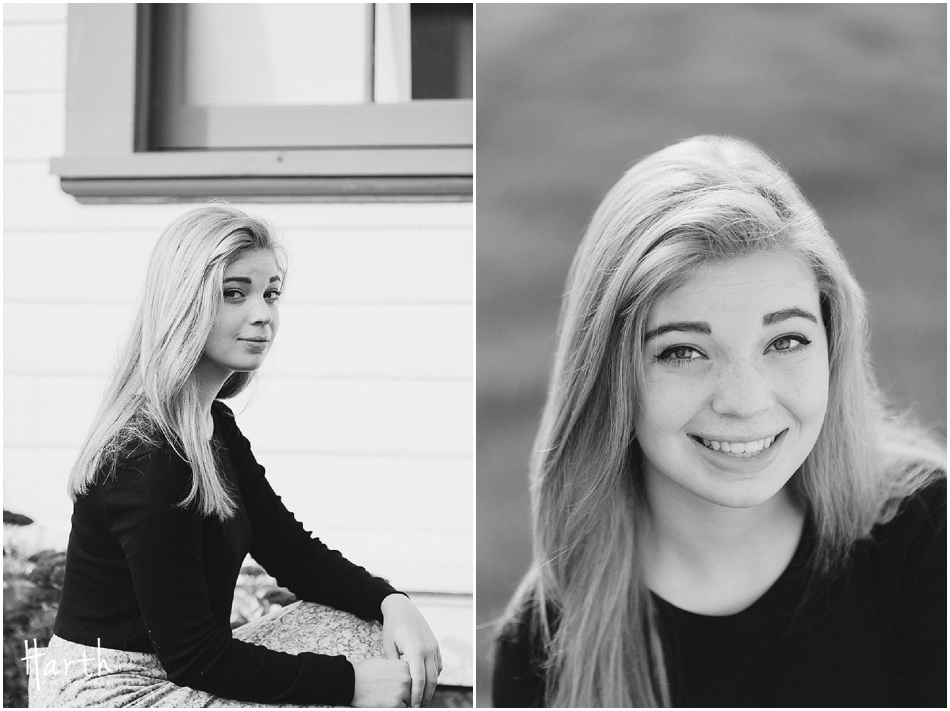 Black and White Senior Photography