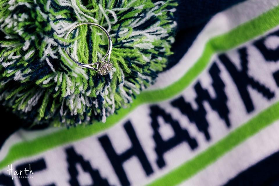Bothell WA Seahawks Engagement Ring