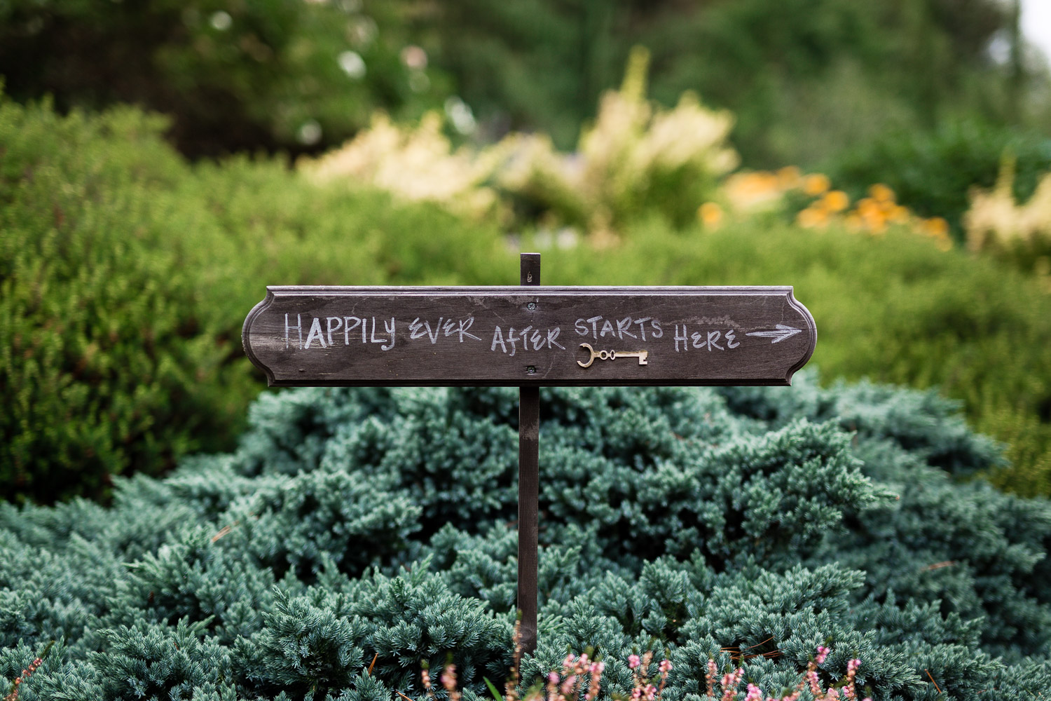 Happily Ever After Starts Here Sign - Twin Willow Gardens Snohomish