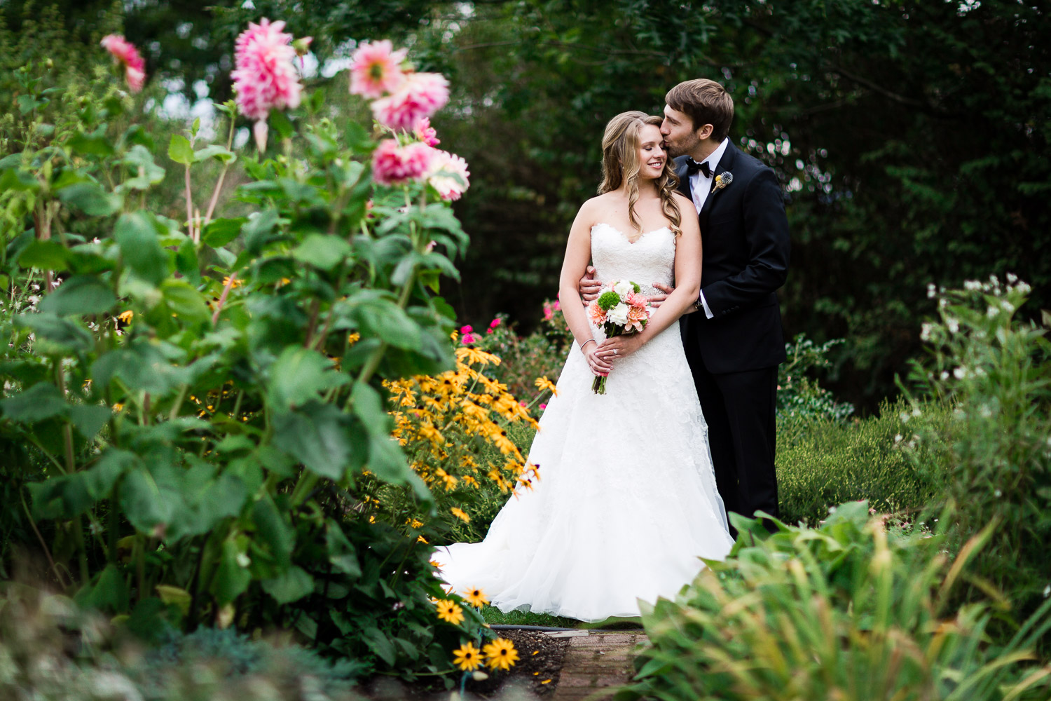 Bride and Groom - Twin Willow Gardens