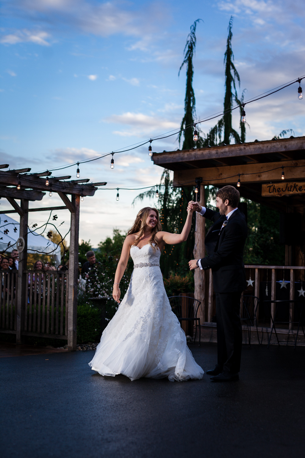 Sunset Bride and Groom First Dance - Snohomish Wedding
