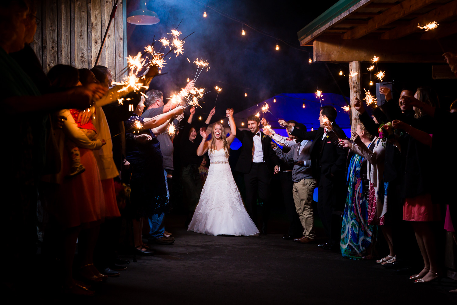 Sparkler Exit - Twin Willow Gardens - Snohomish