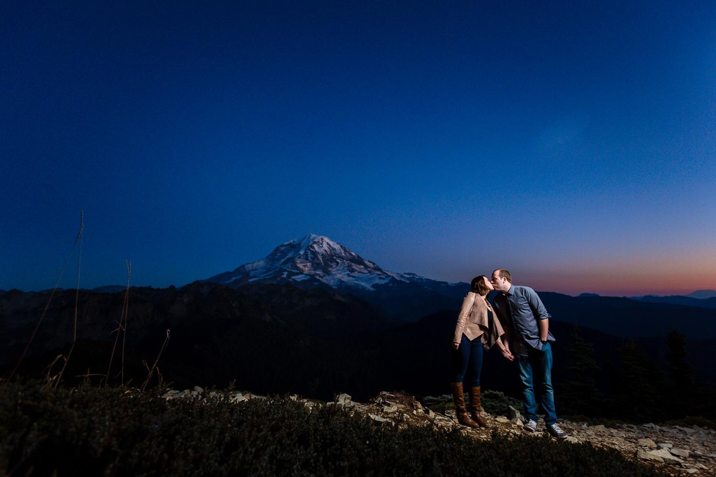 Tolmie Peak Hike Engagement - Mt. Rainier