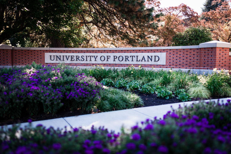University of Portland Admission Entrance Sign