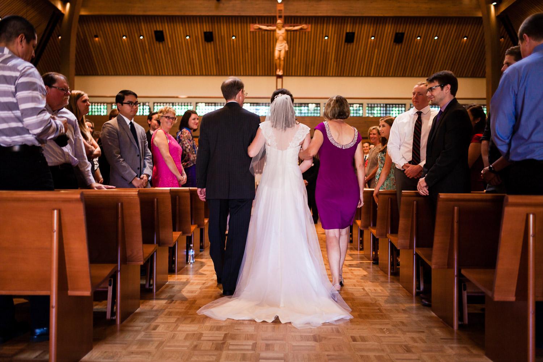 Bride enters Chapel of Christ the Teacher
