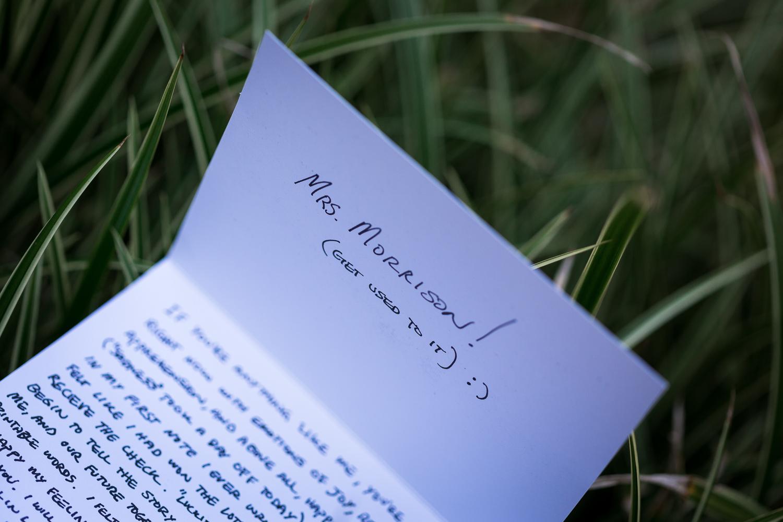 Grooms Letter