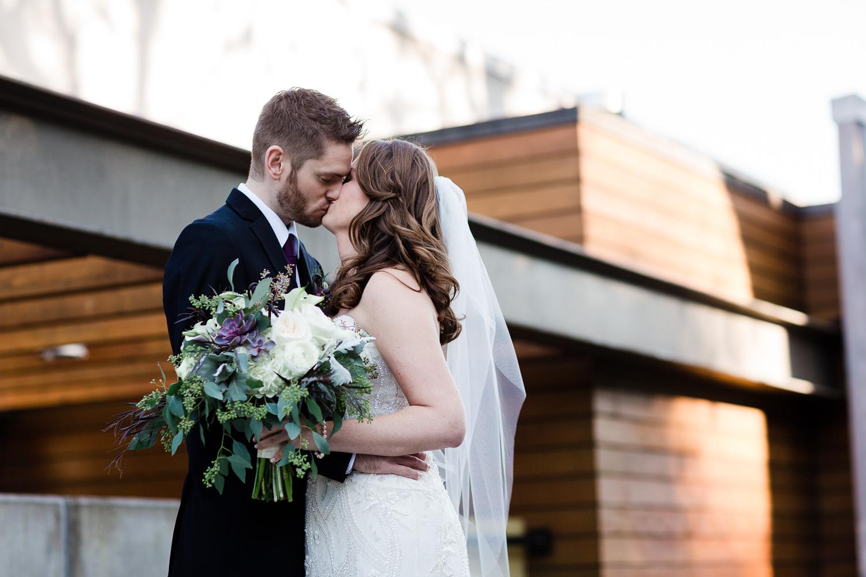 Wedding Kiss At Novelty Hill Januik