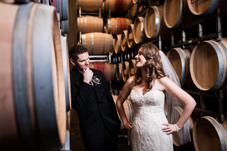Winery Barrels Featured Wedding