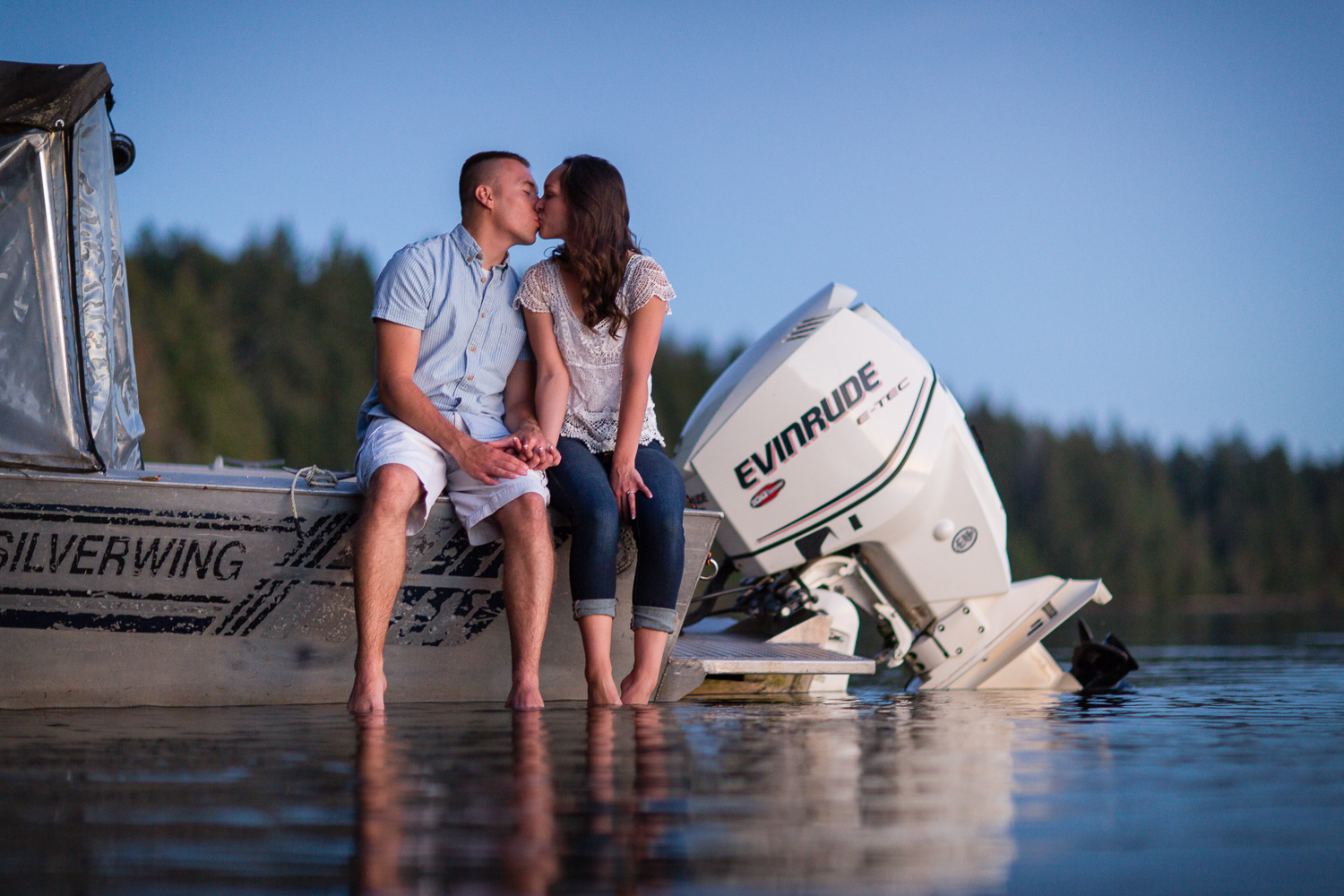 Boat and Water Engagement Photographer