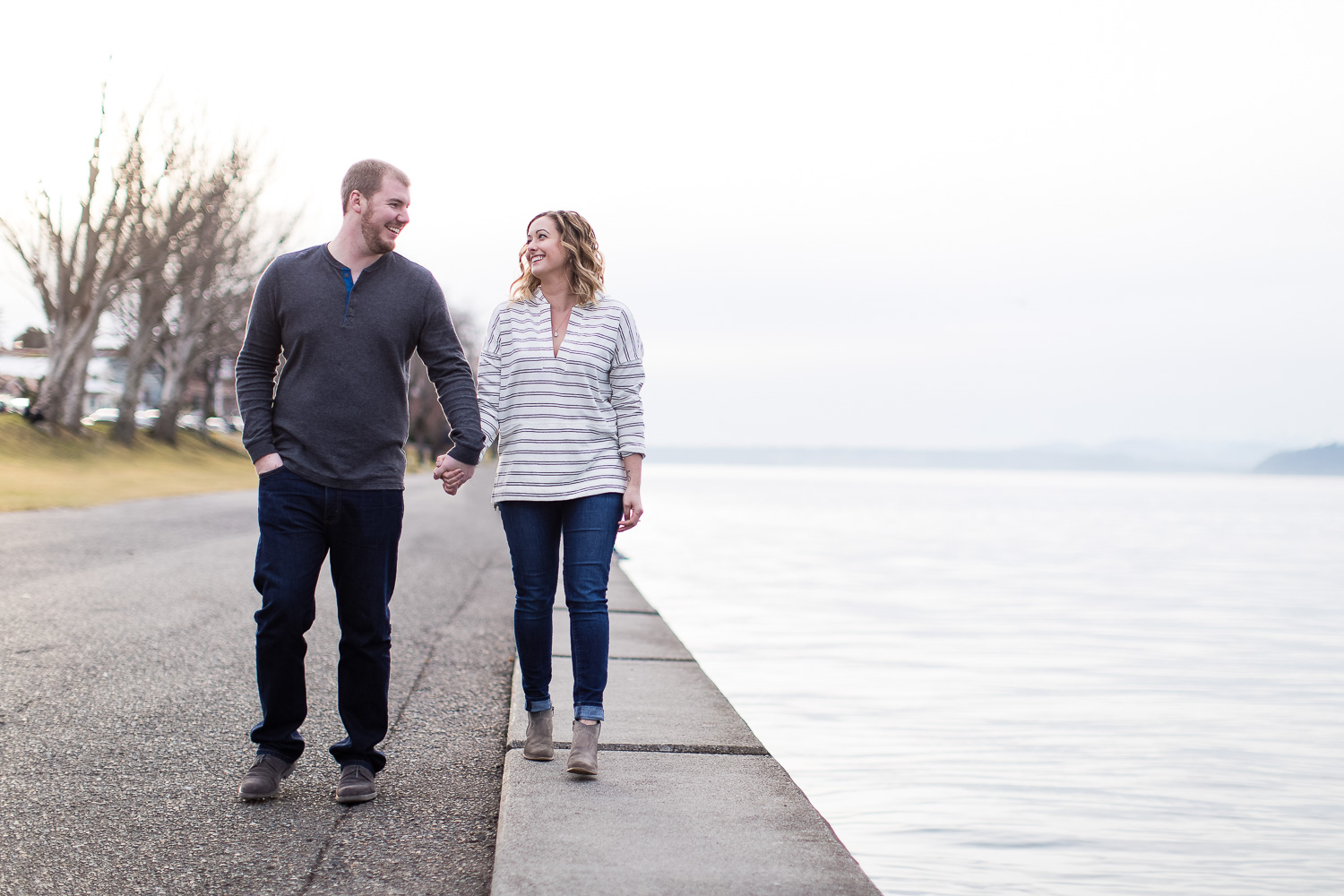Alki Beach Engagement in Seattle