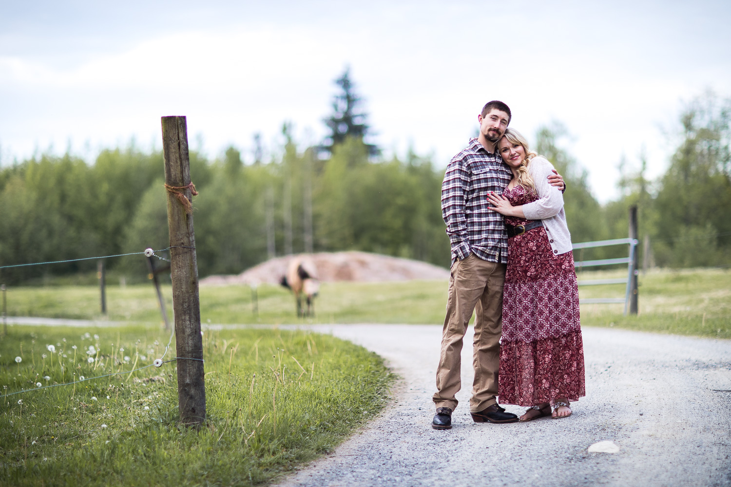 country roads engagement photos