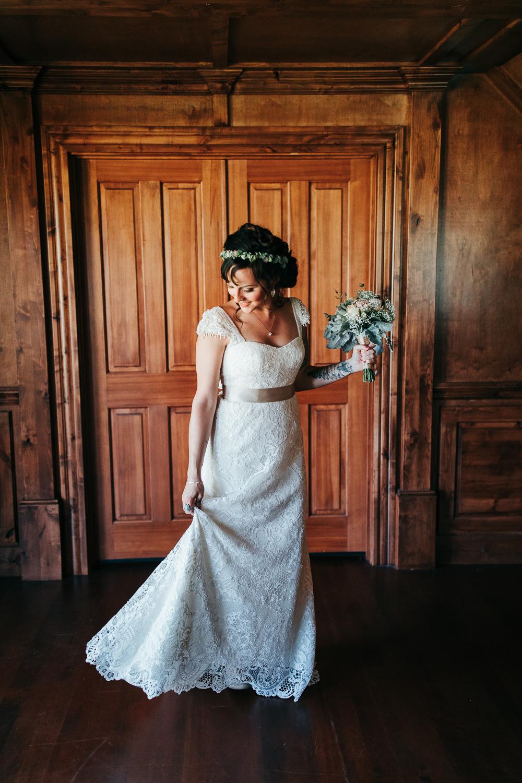 Seattle Bride at The Cattle Barn Wedding Cle Elum Washington