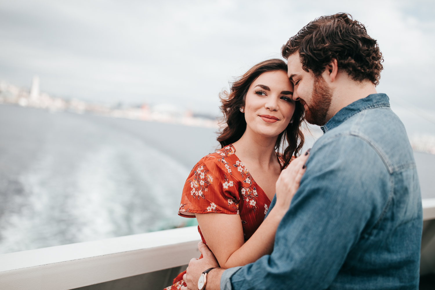 Ferry Boat Engagement Couple