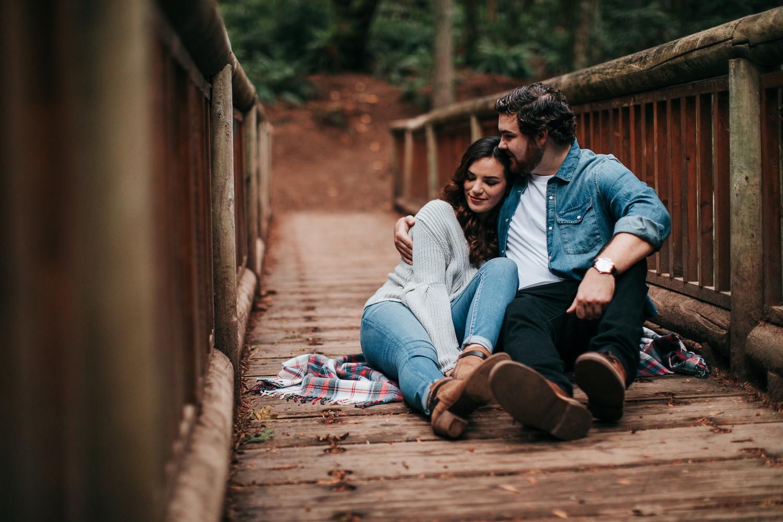 Seattle Bainbridge Island Engagement Couple