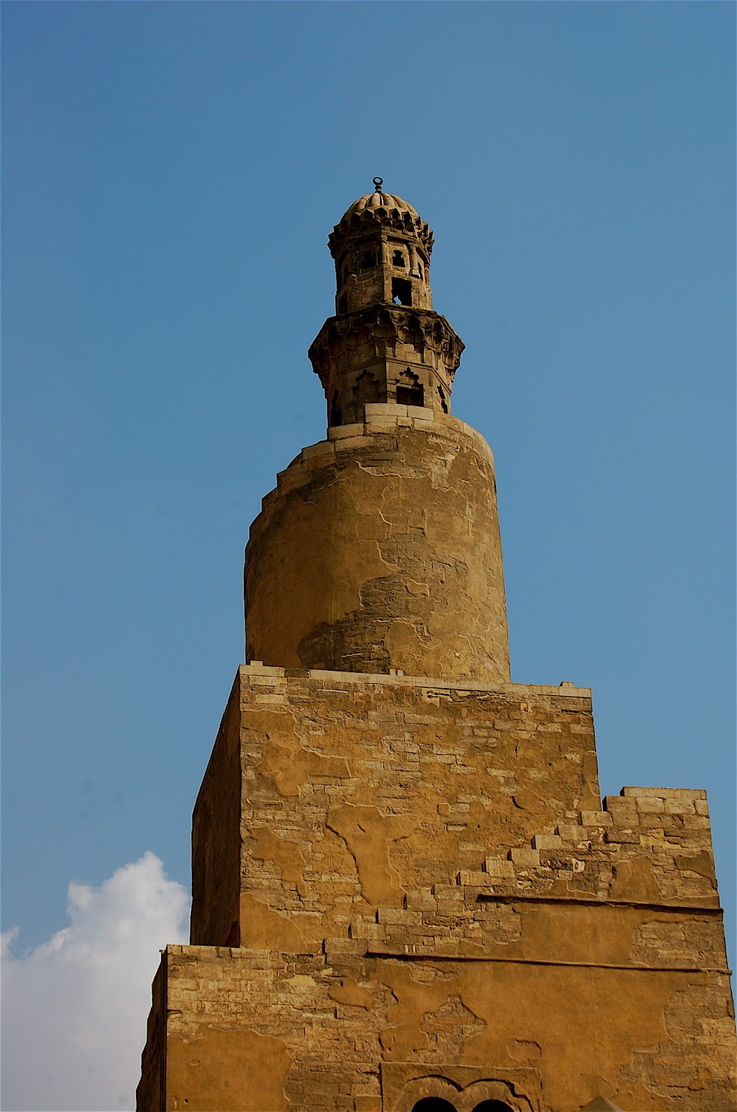 Close-up of the minaret. (Photo by author)