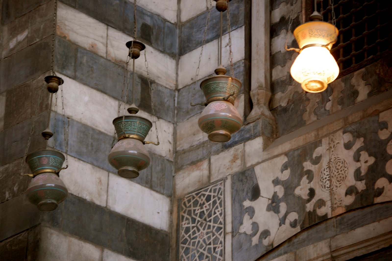Lamps hanging in the entranceway of Sultan al-Ghuri's complex. (Photo by author)