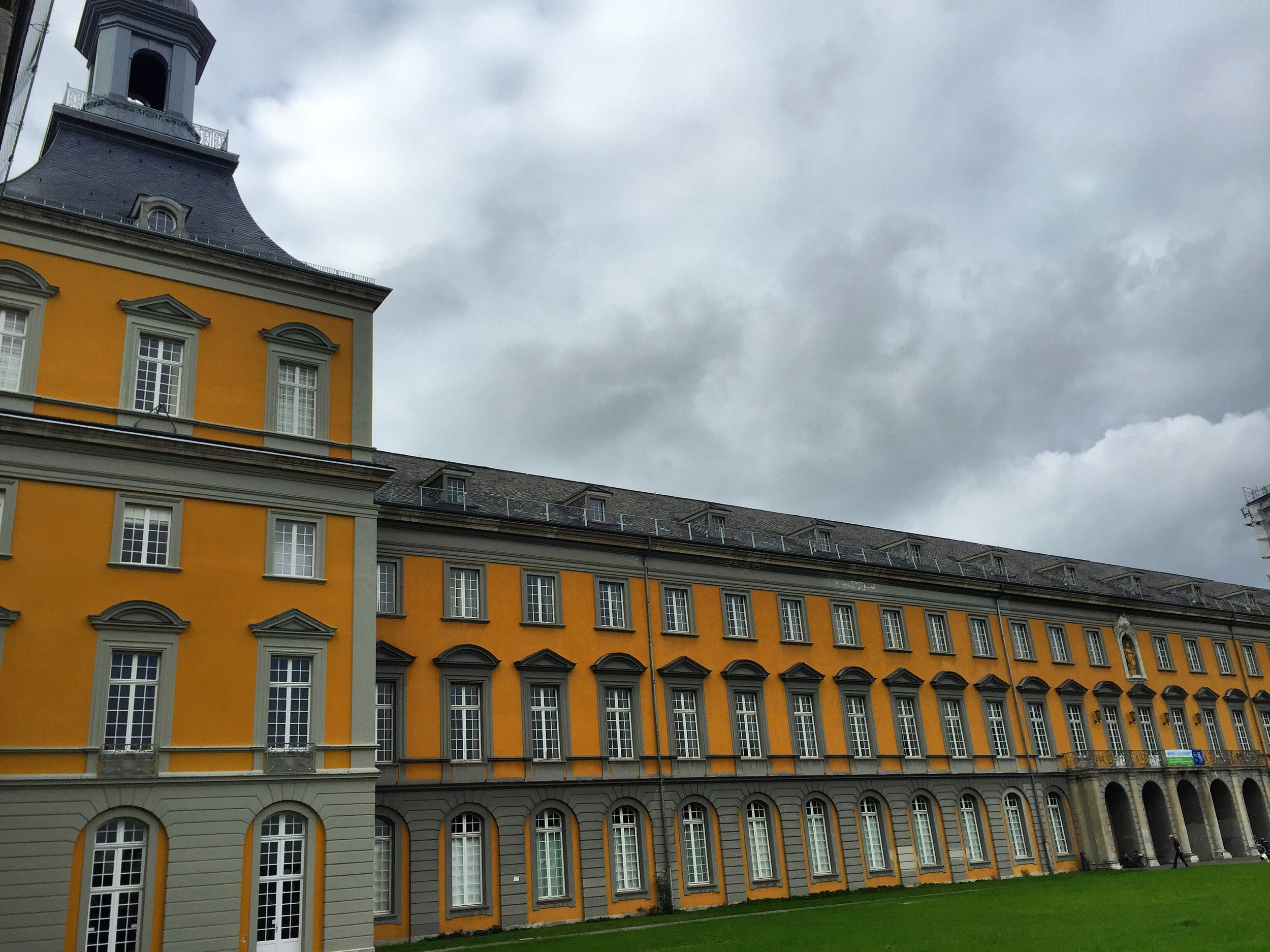 The main, historic building of Bonn University - former resident of the elector-prince. The full facade is even more impressive, but one wing was under restoration.