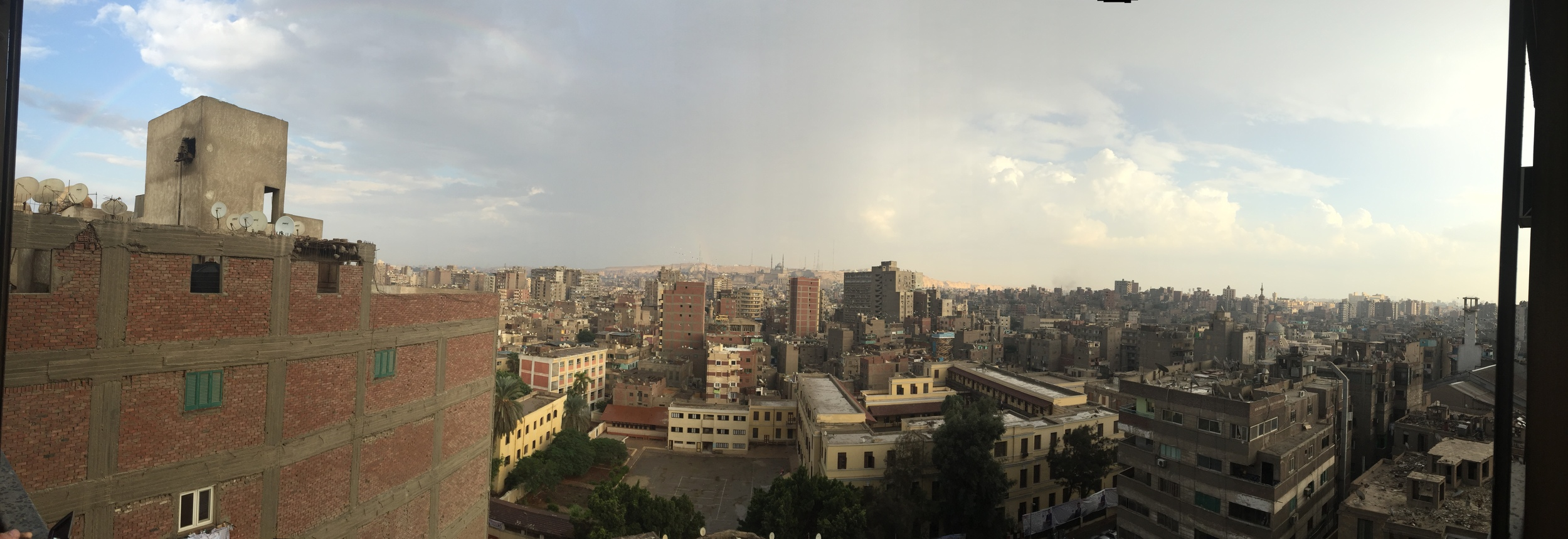 Panorama from my living room.