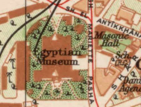 Again unmarked on this map: 1920 General Map of Cairo, Egyptian Survey Authority (مصلحة المساحة). Library of Congress.   Link  .