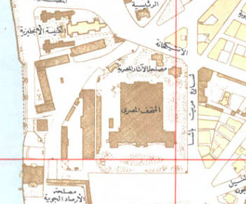 Here they are marked as the Egyptian Antiquities Authority (مصلحة الآار المصرية). Map of the Muhammadan Monuments, 1948, Egyptian Survey Authority. Rare Books and Special Collections, AUC Library.   Link  .