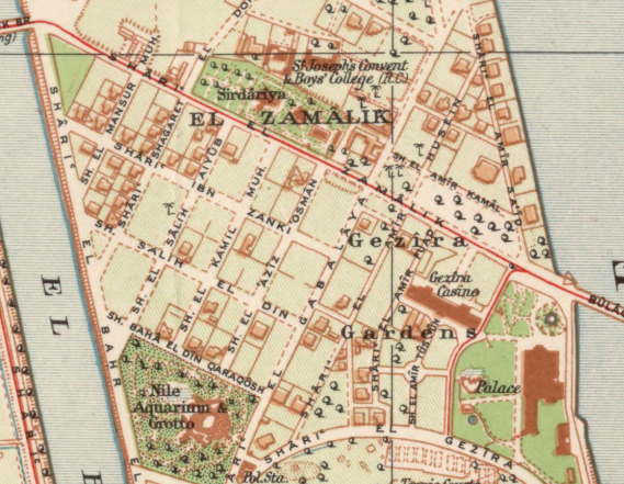 By 1920, the modern neighborhood already was taking shape, albeit with many fewer apartment buildings.1920 General Map of Cairo, Egyptian Survey Authority (مصلحة المساحة). Library of Congress.   Link  .