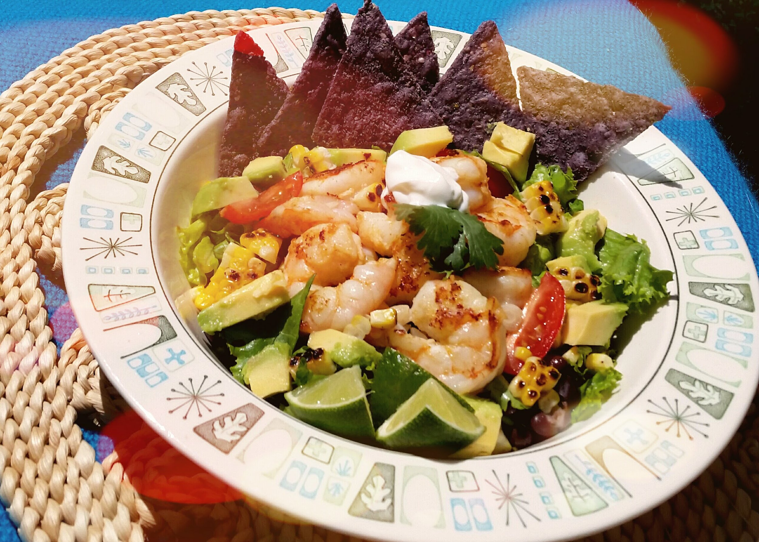 Shrimp and Roasted Corn Taco Salad (Dinner for Two $28.00)