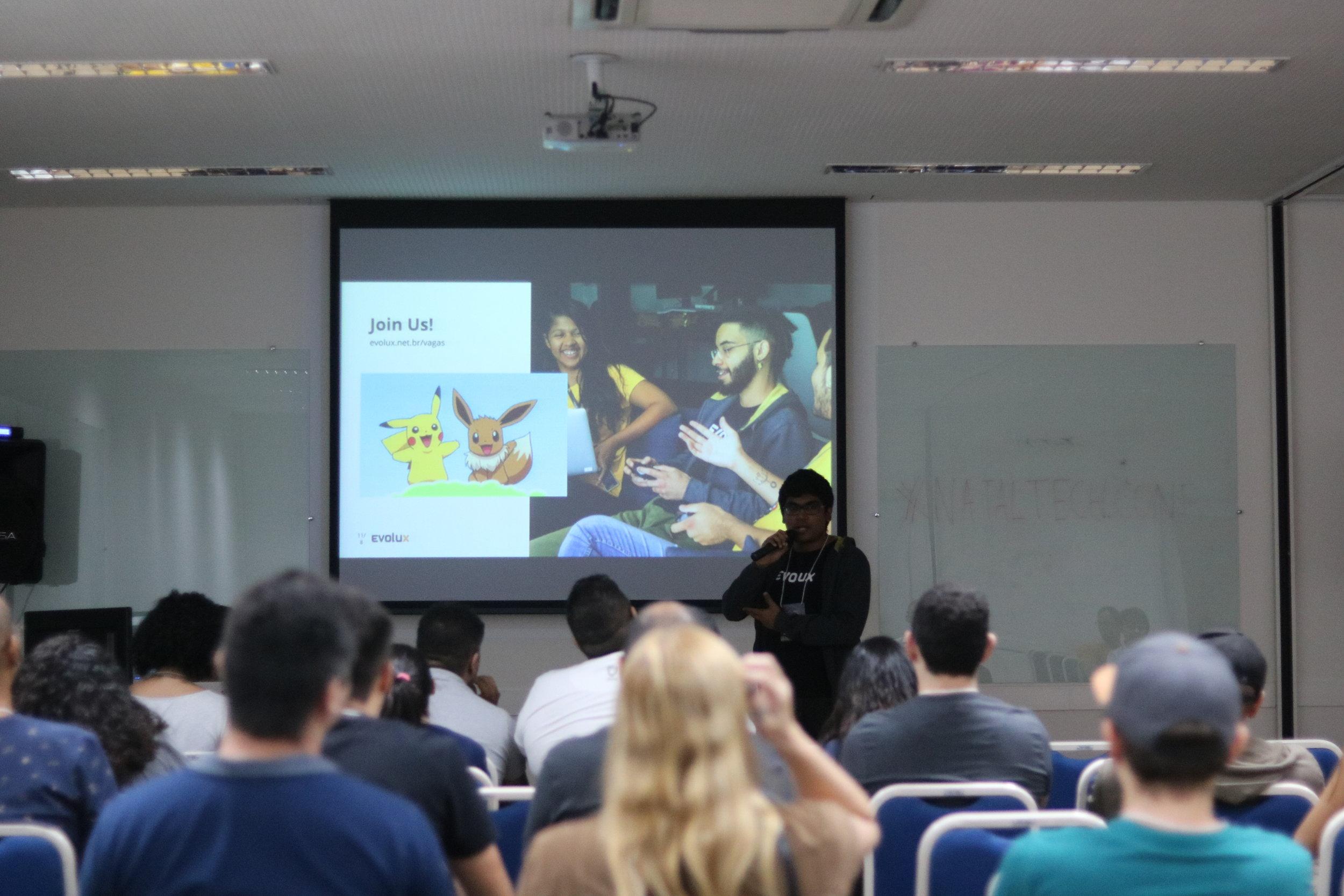 Lightning Talk realizada pelo desenvolvedor Marcell Guilherme na Natal Tech Conference