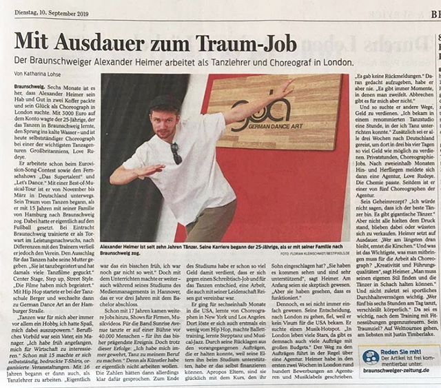 Newspaper article for my German followers 💫 I am grateful for the amount of support I receive... definitely willing to give back big time.