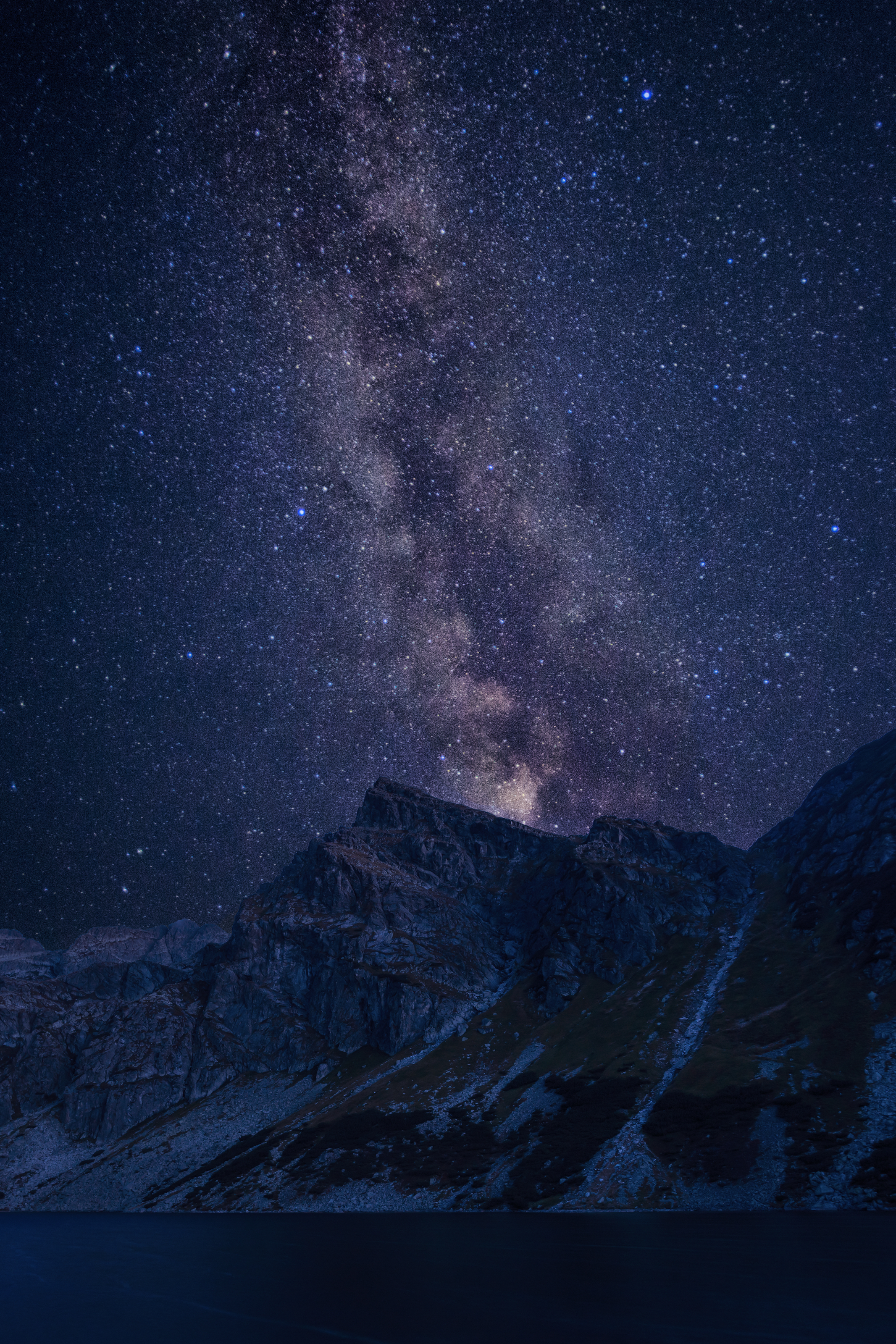 Milky way over Tatras