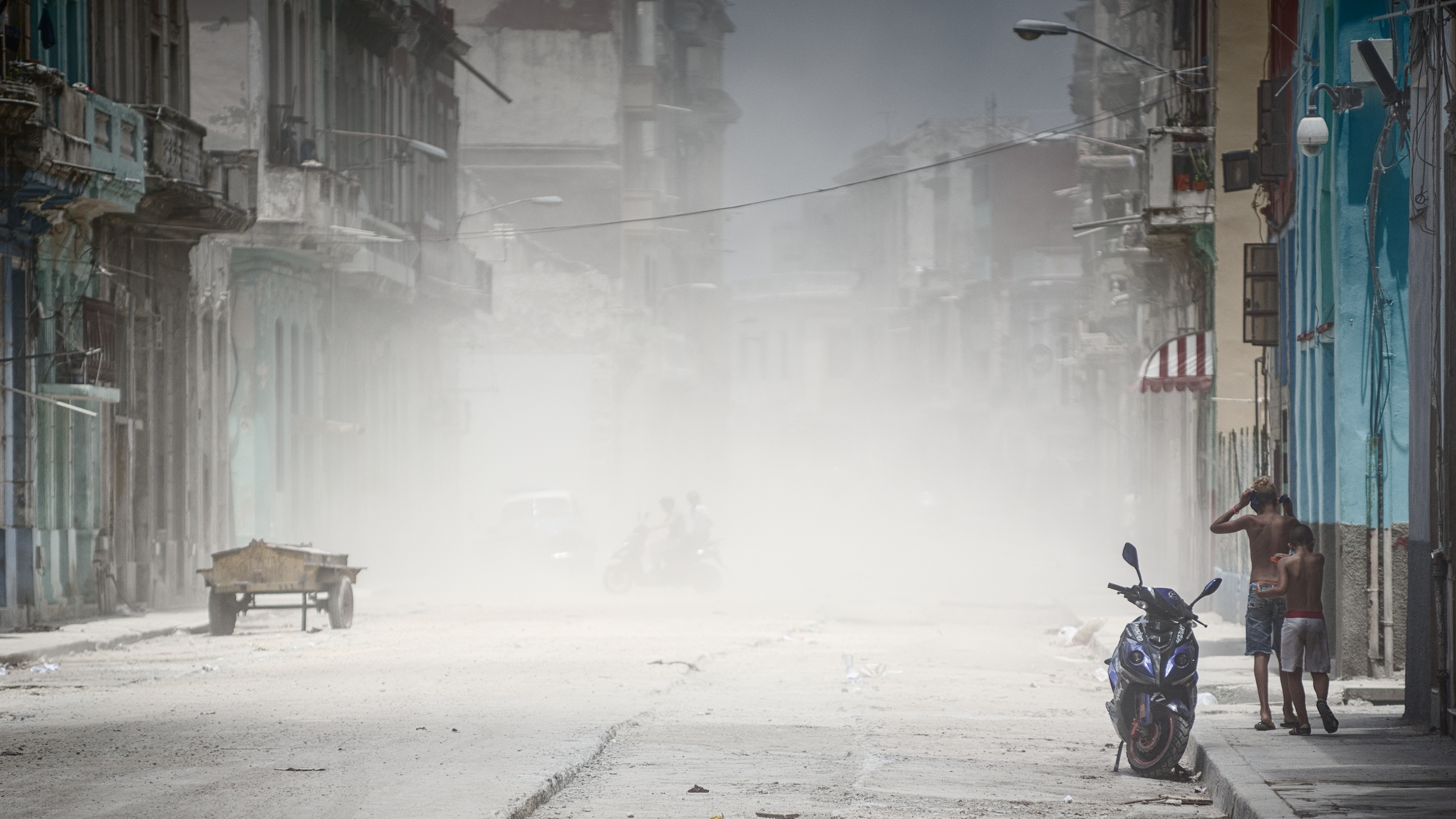 street and dust