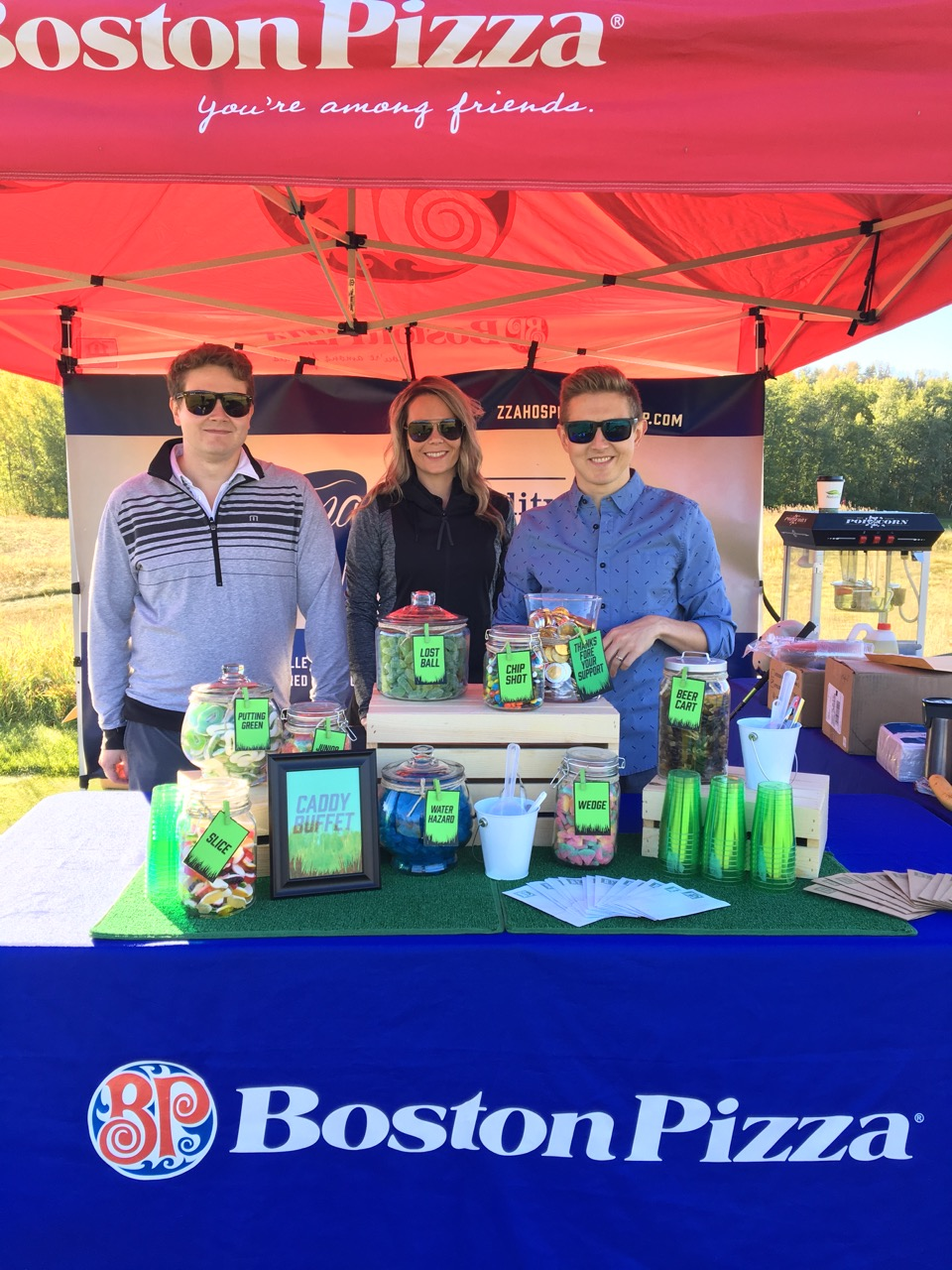 Andy Arndt, Megan Lee & Dan Arndt at the 2016 BP Charity Golf Classic. -