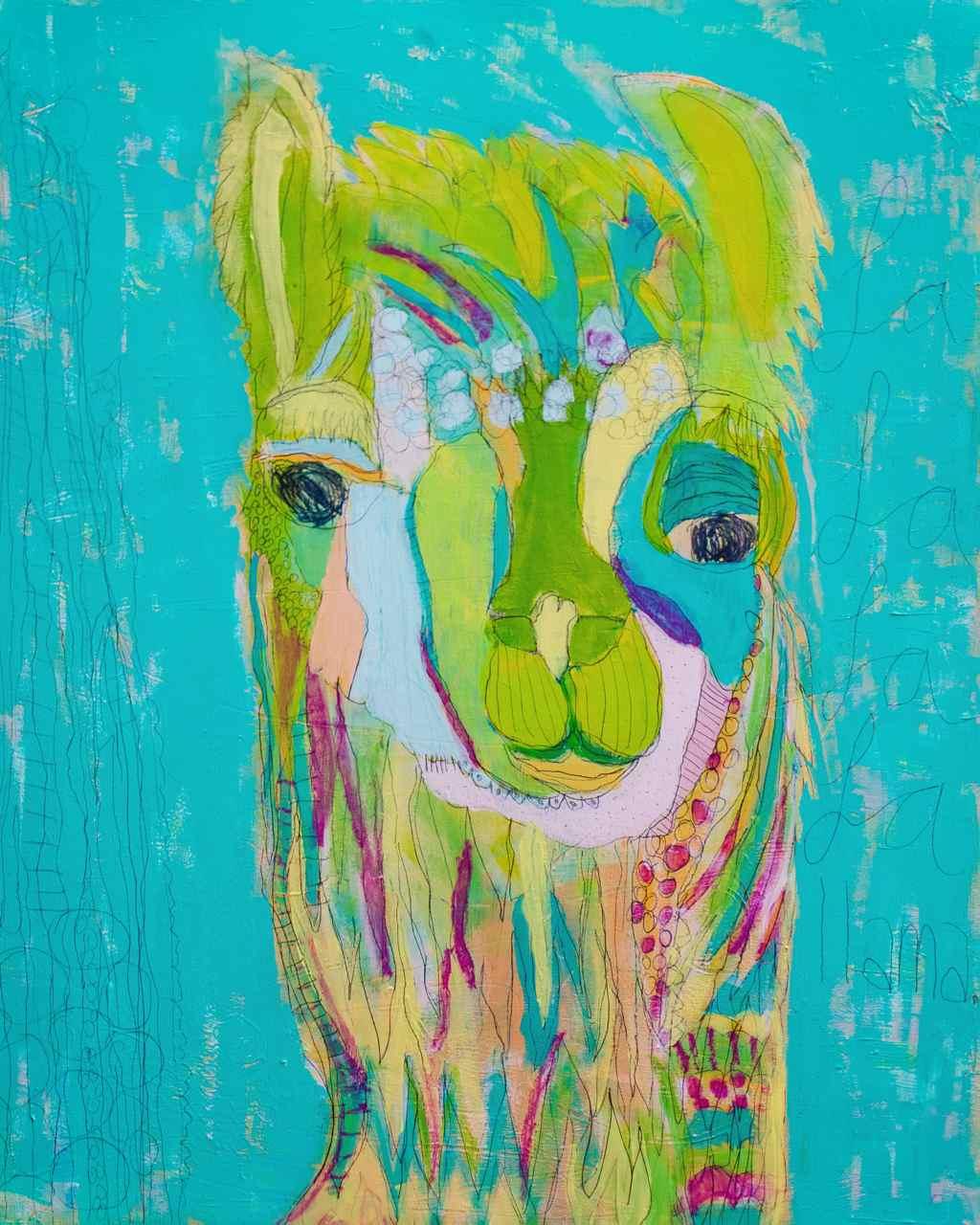 Cara Harjes Paintings -8x10Llama-HighRes.jpg