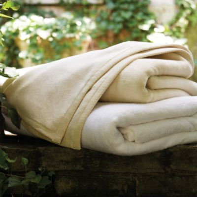 Sferra 100% Brushed Cotton Blankets