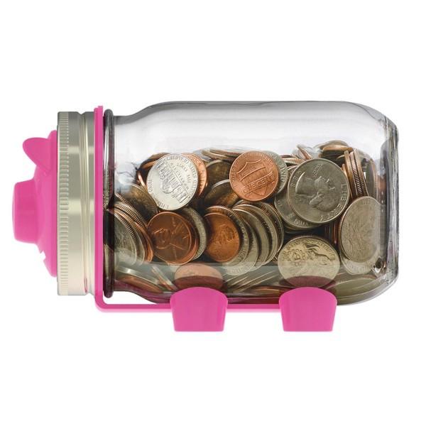 Jarware Piggy Bank, Pink