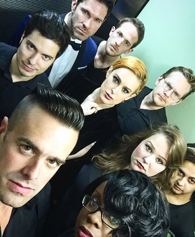 Michael J Moritz Jr with Rumer Willis and the band