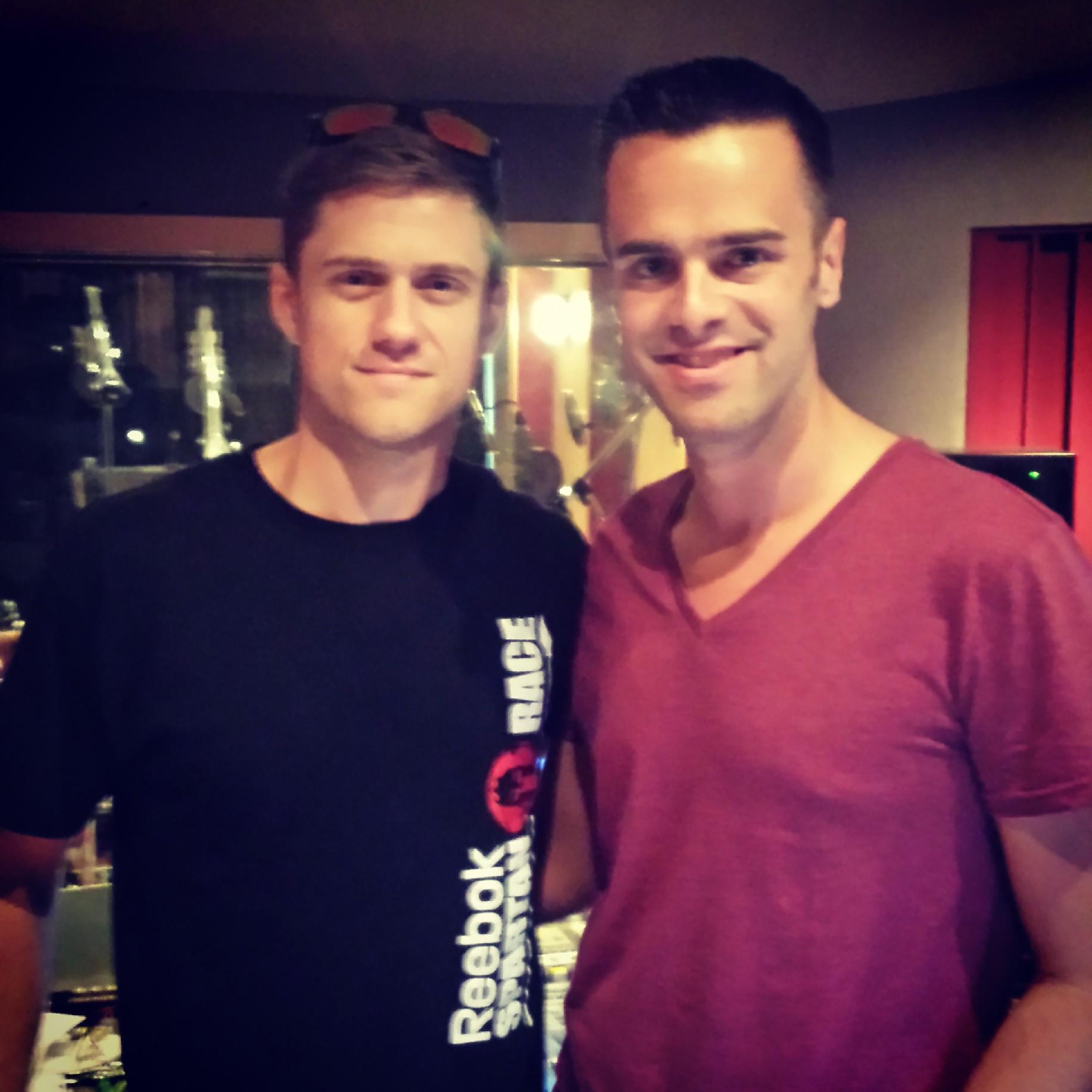 Michael J Moritz Jr and Aaron Tveit