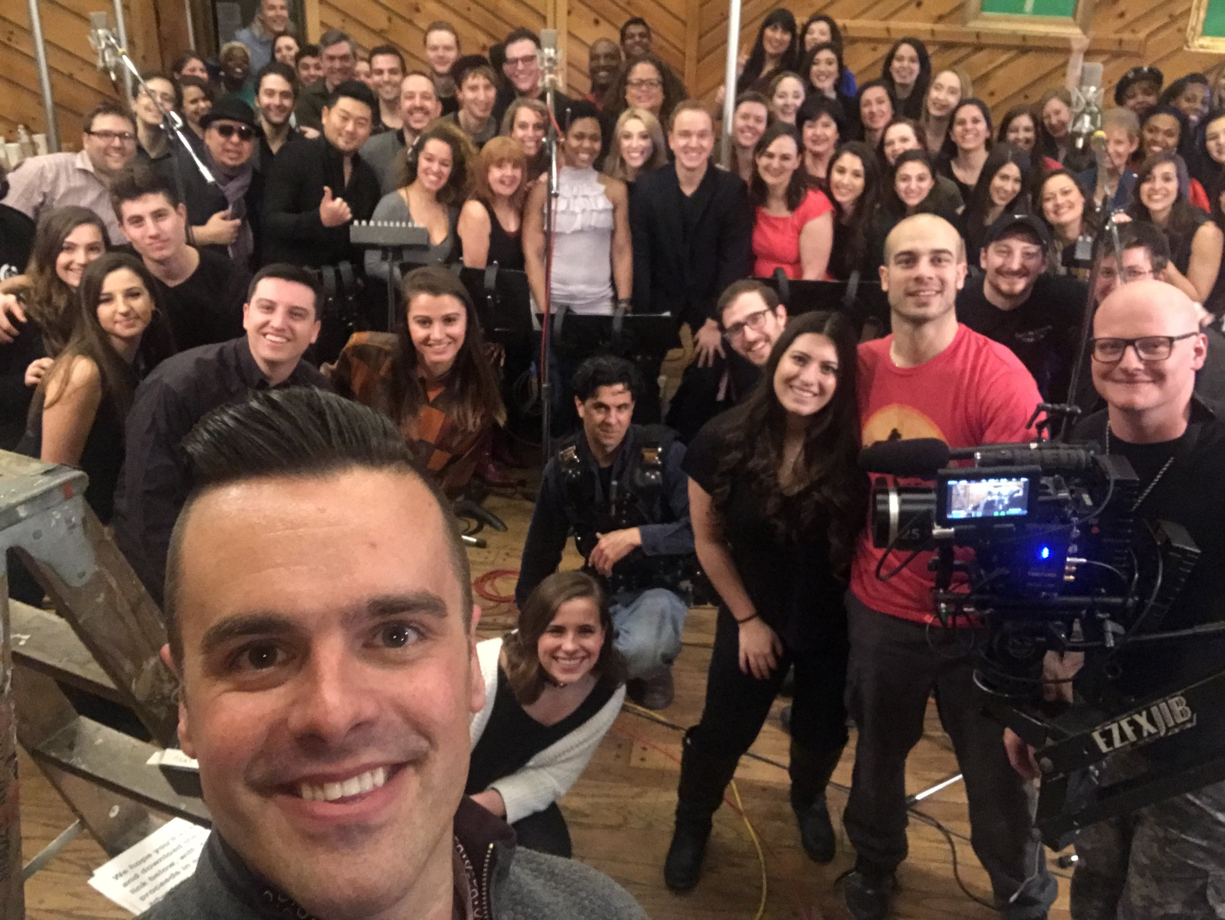 Michael J Moritz Jr with the #savetheNEA chorus