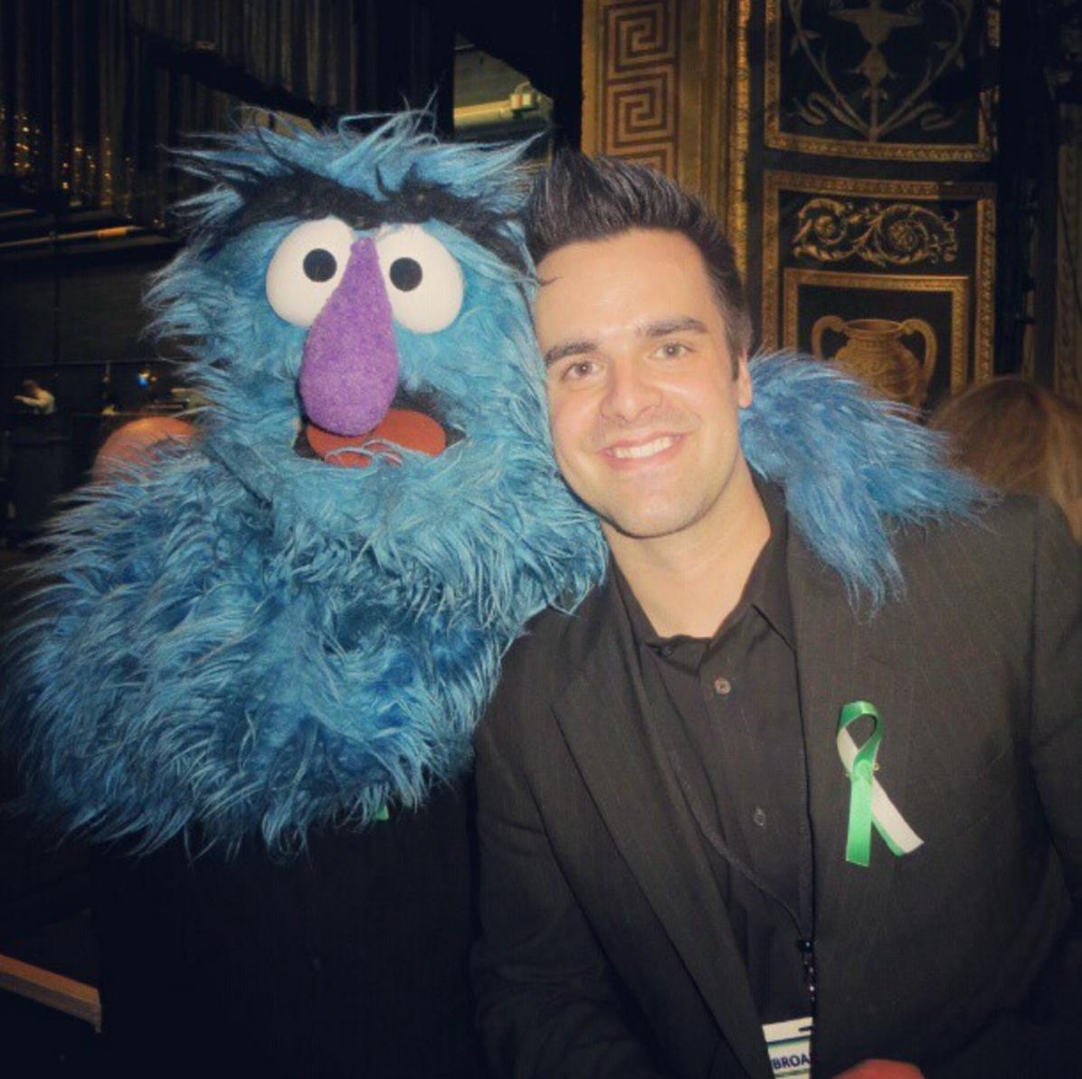 Michael J Moritz Jr with Cookie Monster!