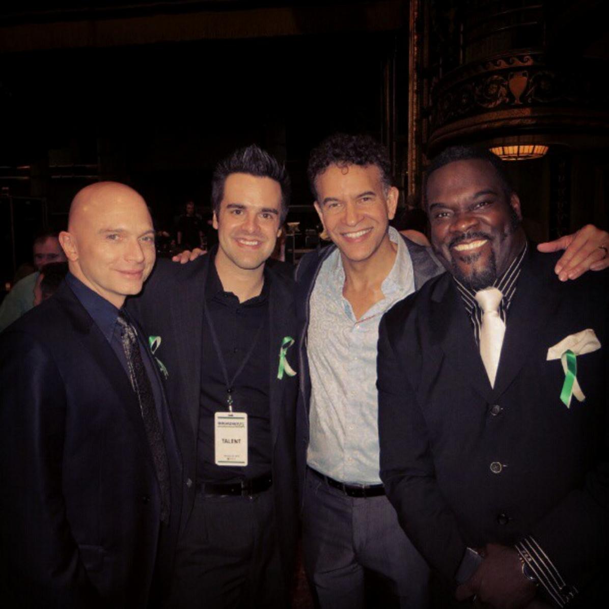 Michael J Moritz Jr with Michael Cervaris, Brian Stokes Mitchell, and Phillip Boykin