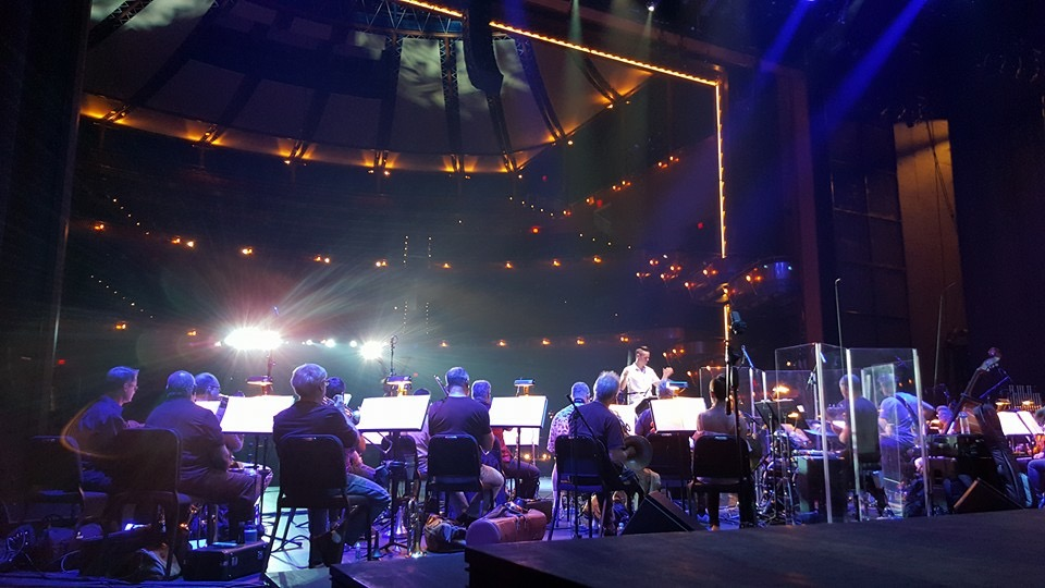 Michael J Moritz Jr conducting the Orlando Philharmonic
